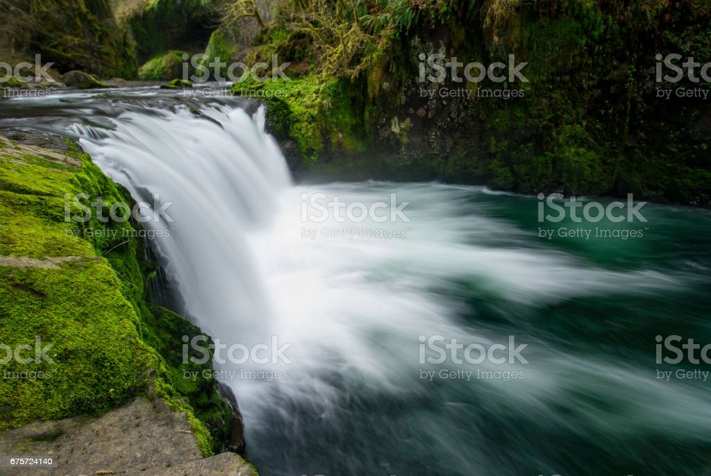 Lower Punch Bowl Falls, Oregon stock photo
