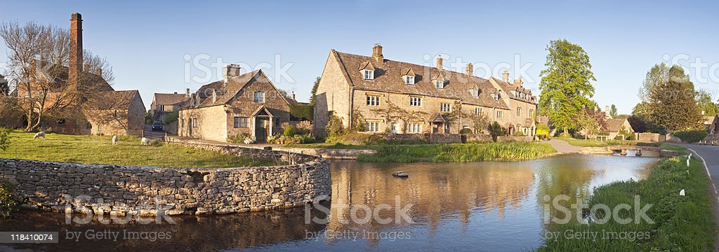 Lower Slaughter in the Cotswolds. royalty-free stock photo