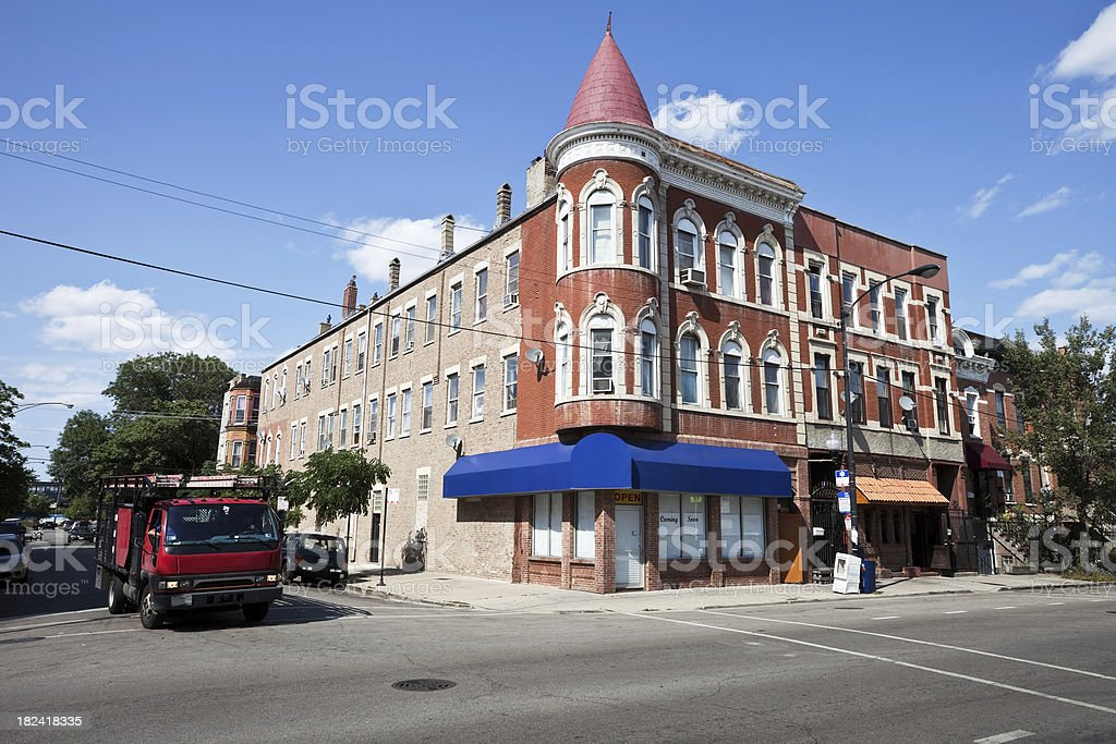 Lower West Side Chicago Vintage Shop royalty-free stock photo