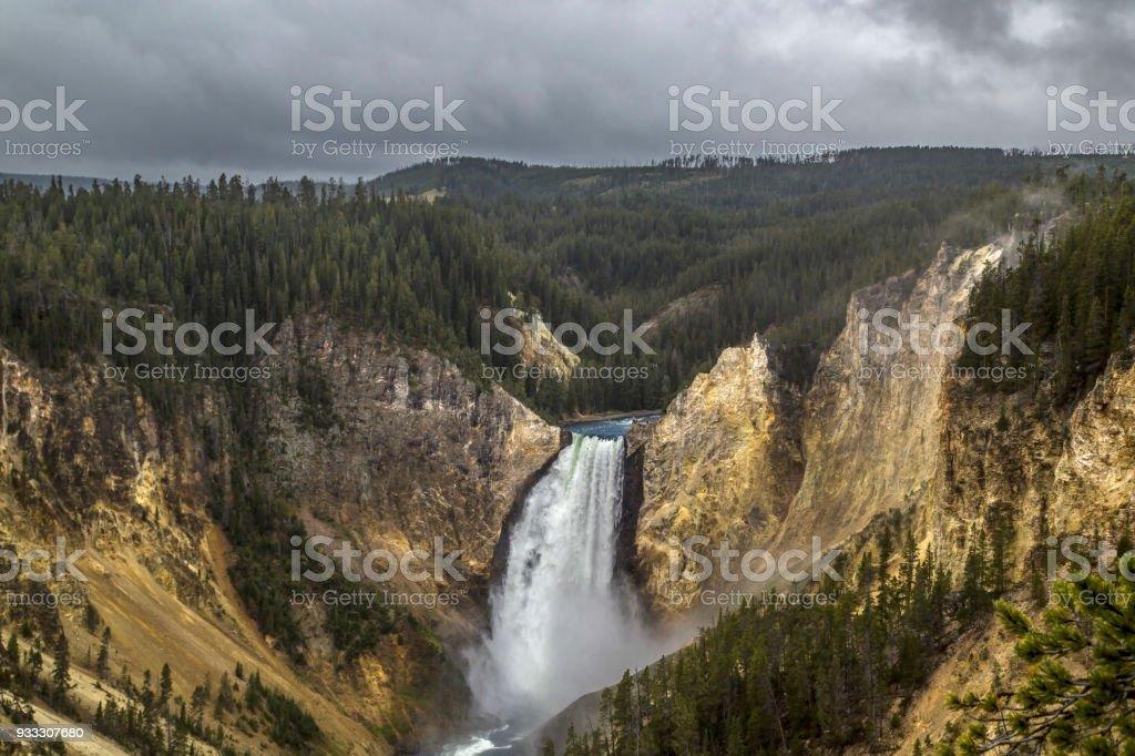 Lower Yellowstone Falls stock photo