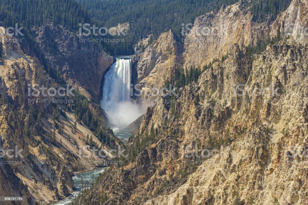 Lower Yellowstone Falls Yellowstone National Park Wyoming USA stock photo