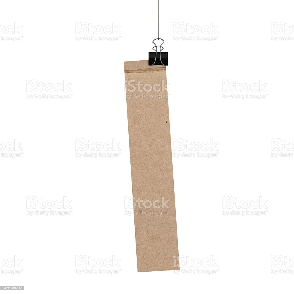 Lowercase letter l hanging on string stock photo