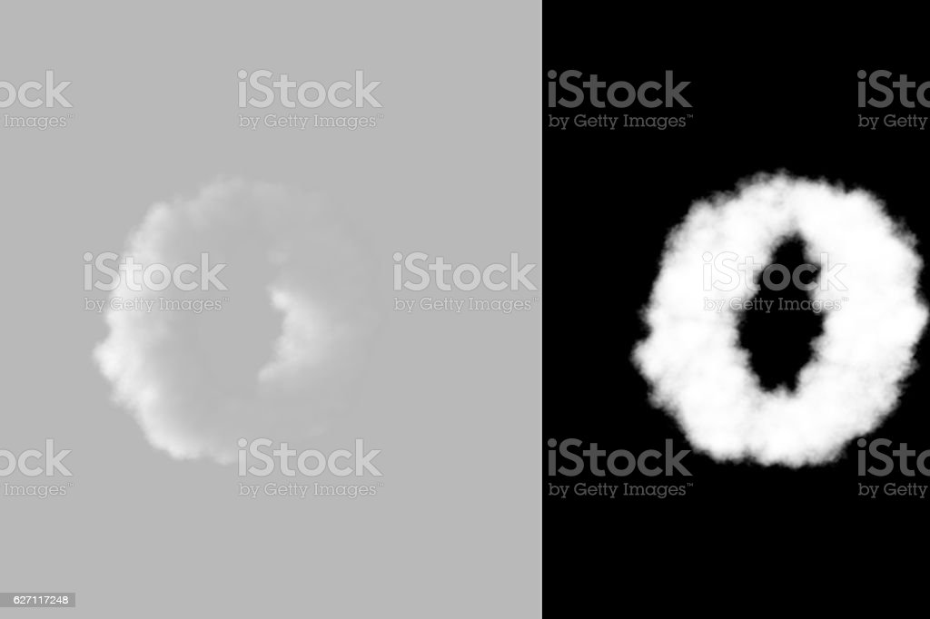 Lowercase letters a-z with luma matte stock photo