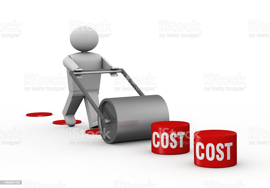 Lowering costs royalty-free stock photo