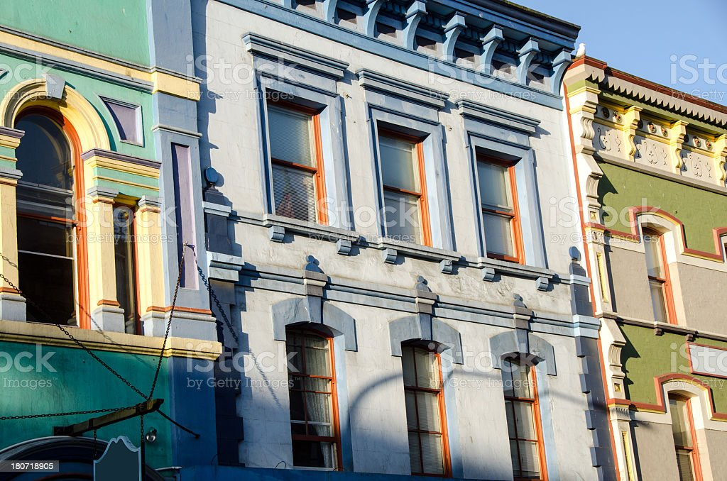 Lowers Johnson Street Buildings In Victoria royalty-free stock photo