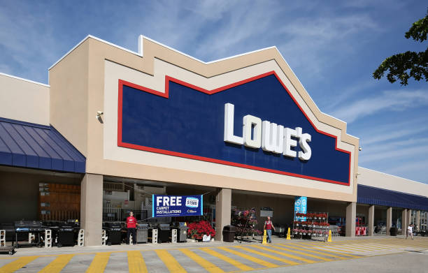 Lowe's Home Improvement store stock photo
