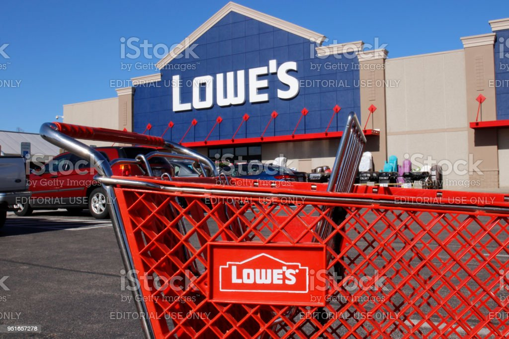 Lowe's Home Improvement Warehouse. Lowe's operates retail home improvement and appliance stores in North America I stock photo