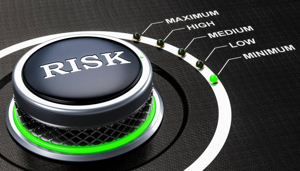 Lowest level of risk concept, knob. 3D rendering stock photo