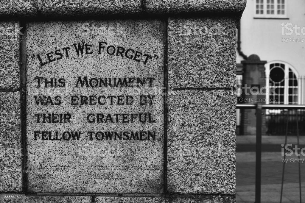 Lowestoft War Memorial stock photo