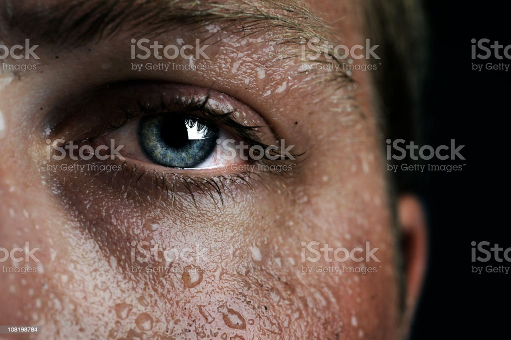 low-key eye stock photo