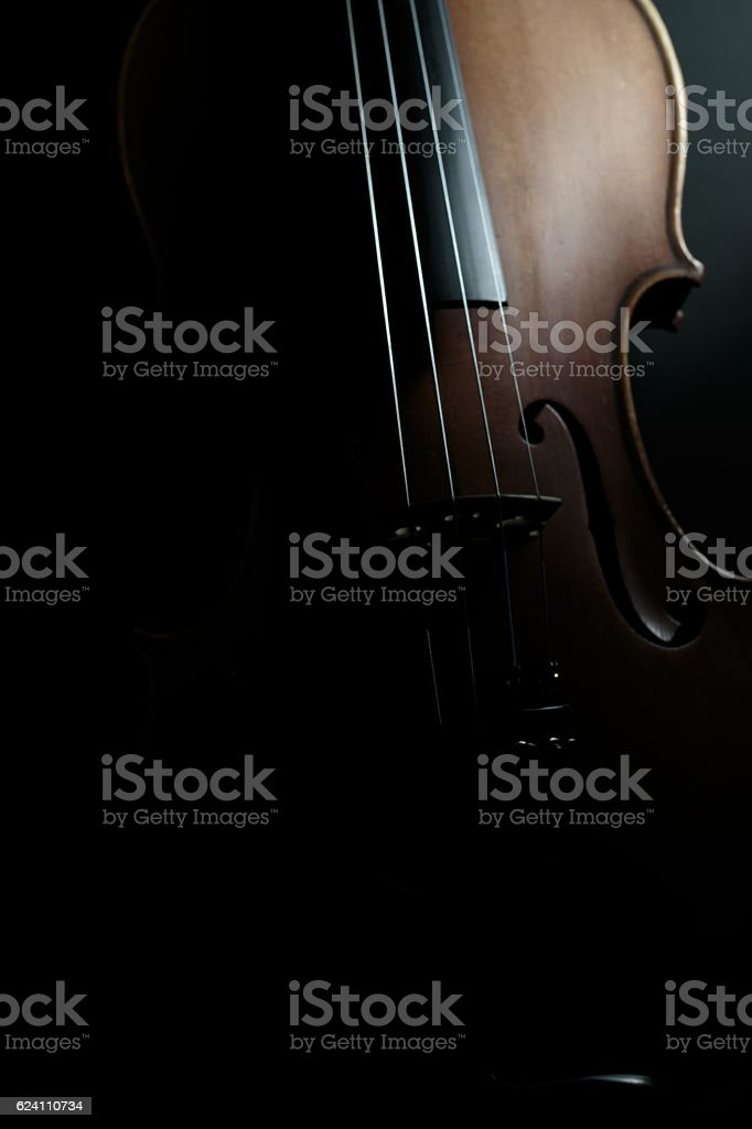 Low-key Violin stock photo