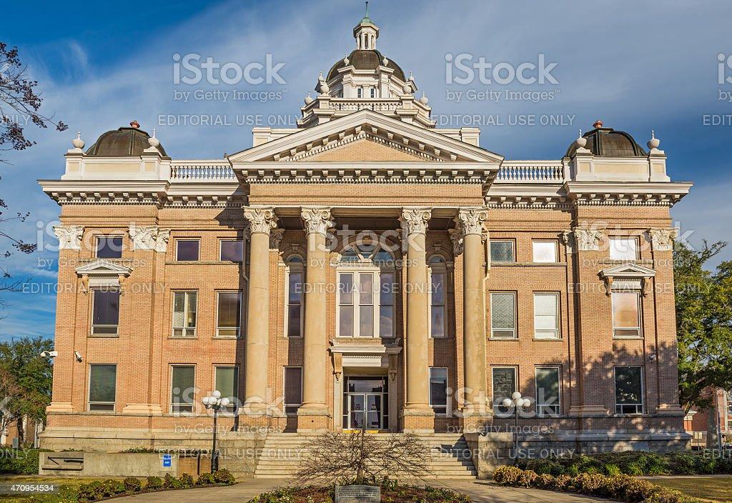 Lowndes County Courthouse in Valdosta, Georgia stock photo
