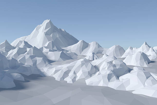 3 D abstrait paysage lowpoly - Photo