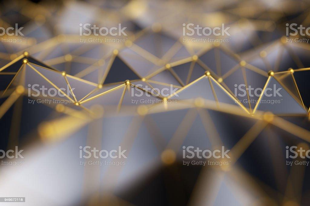 lowpoly wallpaper,metallic background.3d rendering stock photo