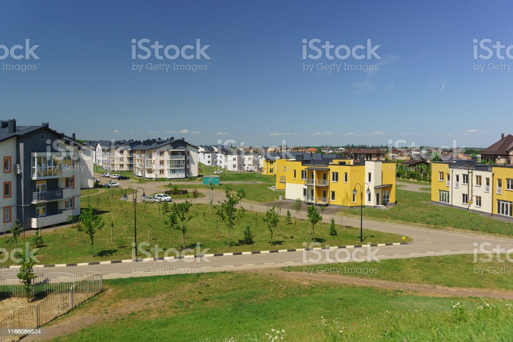 Lowrise Apartment Buildings In The New District Of Krasnodar On The Streets Of Schumann And Wagner On A Sunny Day Stock Photo Download Image Now Istock