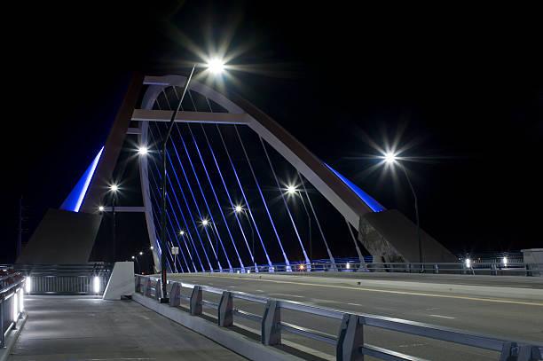 Lowry Avenue Bridge at Roadside stock photo