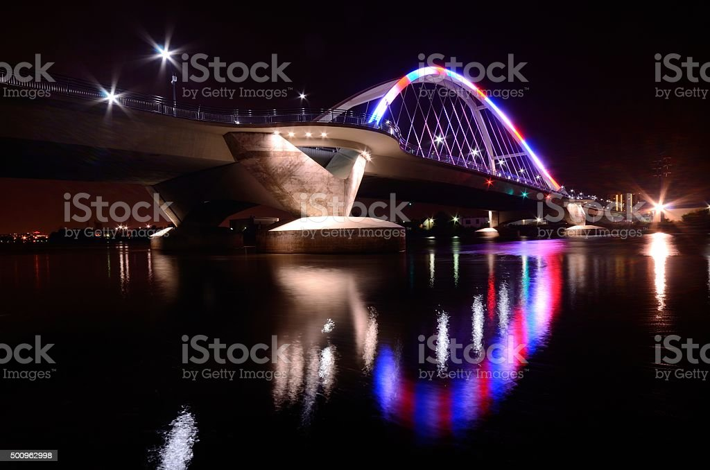 Lowry Avenue Bridge in Minneapolis stock photo