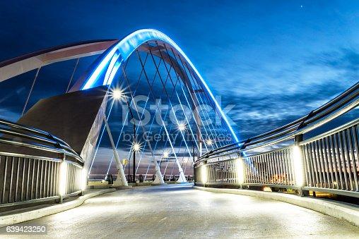 A one of the walkways on the Lowry Avenue Bridge in  Northeast Minneapolis, Minnesota.
