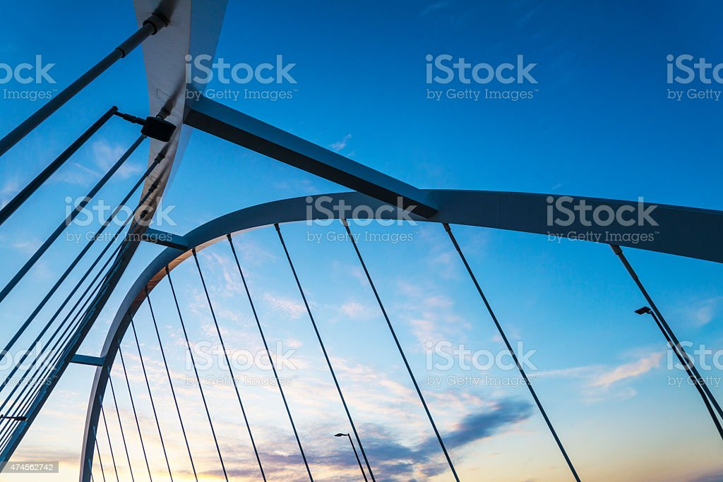 Lowry Bridge Frame and Cable Detail, Minneapolis stock photo