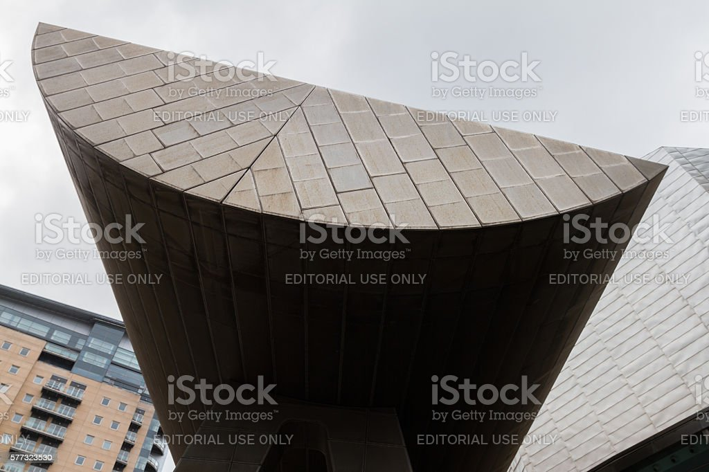 Lowry Center modern architectural building at the Salford Quays stock photo