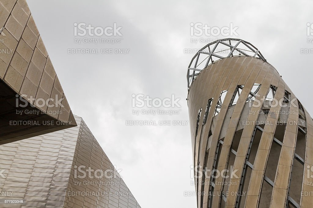 Lowry Center modern architectural buildings at the Salford Quays stock photo