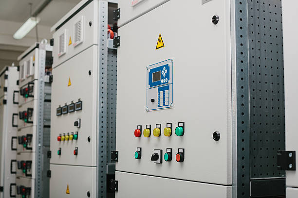 low-voltage cabinet. uninterrupted power. electrical power. - fuse box stock photos and pictures