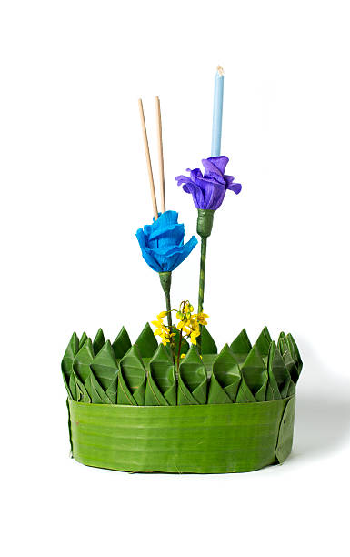 loy kratong festival - kratong stock photos and pictures