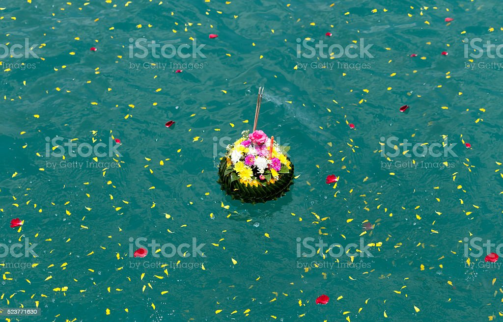 Loy Kratong for Scattering Ashes Ceremonies stock photo