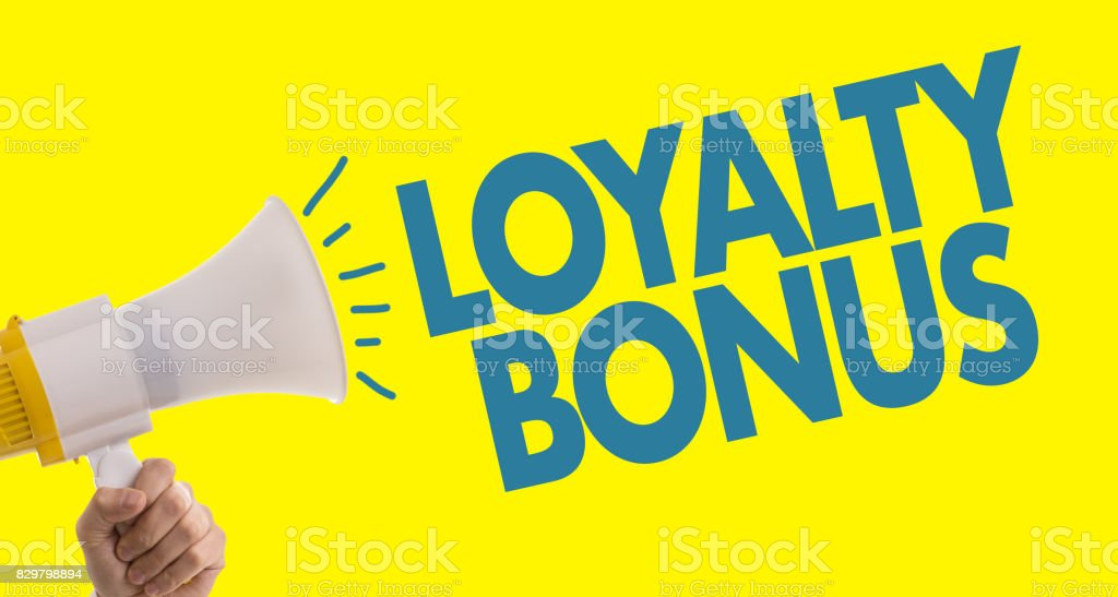 Loyalty Bonus stock photo