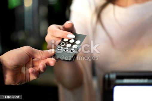 istock Loyalty coffee card 1140433751
