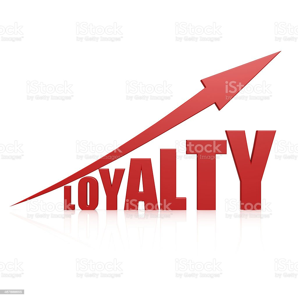 Loyalty red arrow stock photo