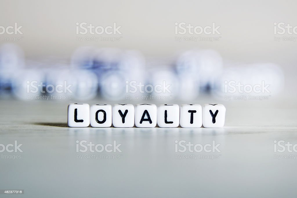 Loyalty word concept stock photo