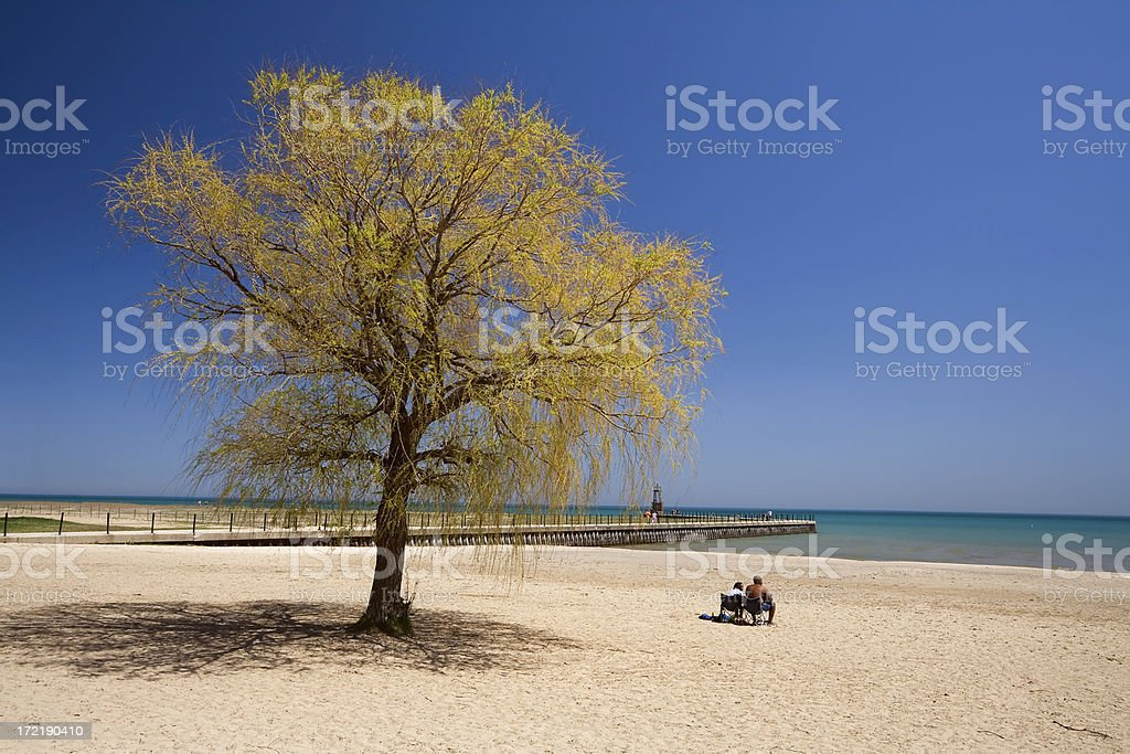 Loyola Beach, Chicago royalty-free stock photo