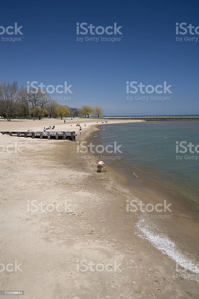 Loyola Beach Scene royalty-free stock photo