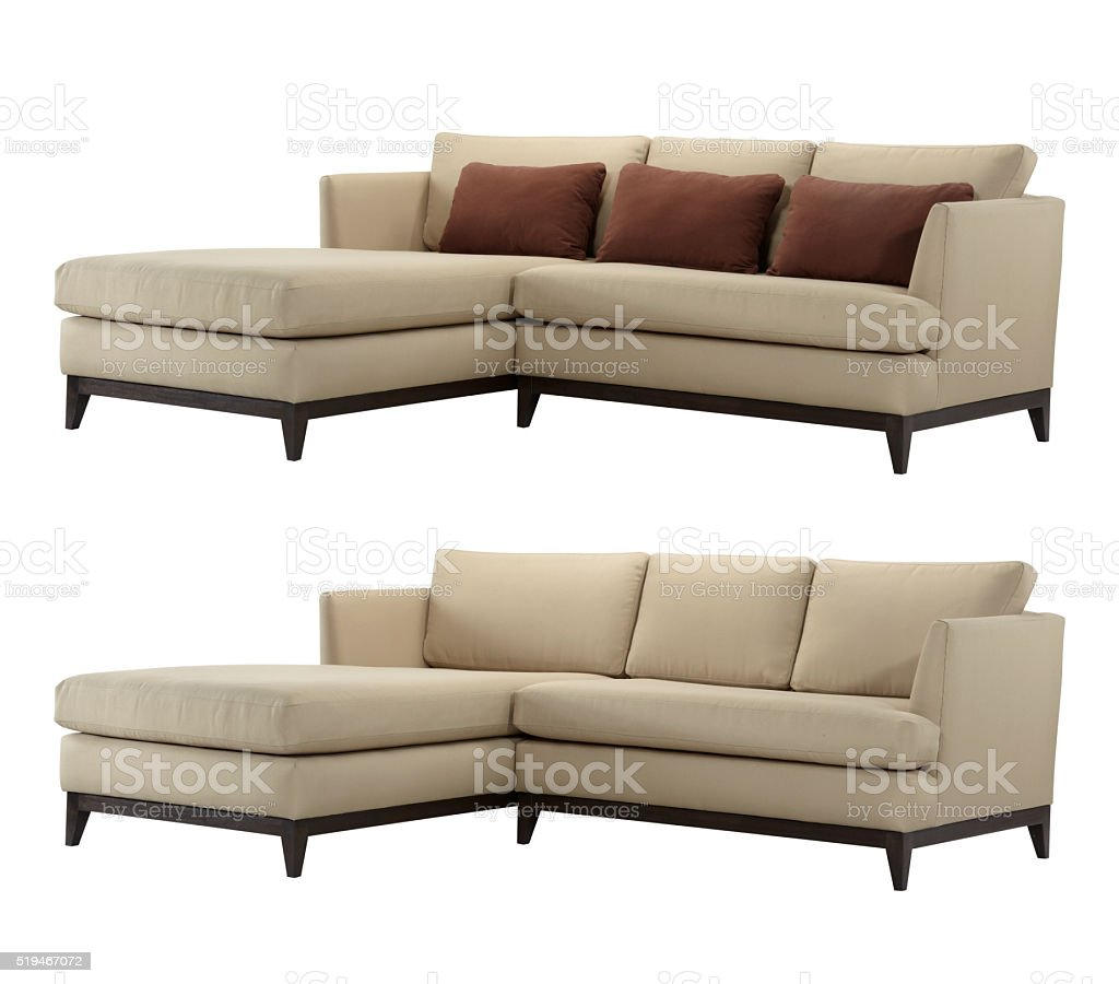 L-shaped sofa stock photo