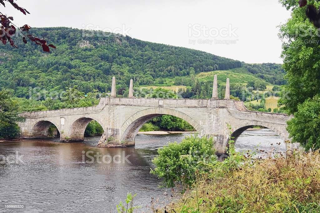 Lt. General Wade's bridge at Aberfeldy stock photo