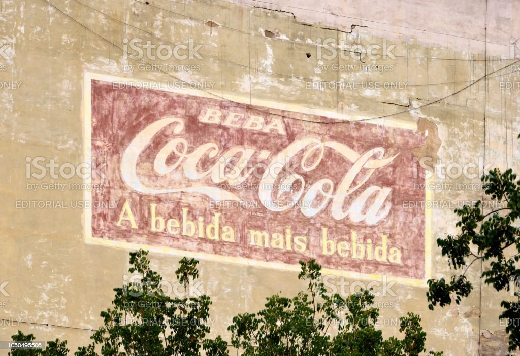 Luanda A 1970s Ad For Cocacola Survives On A Building Side