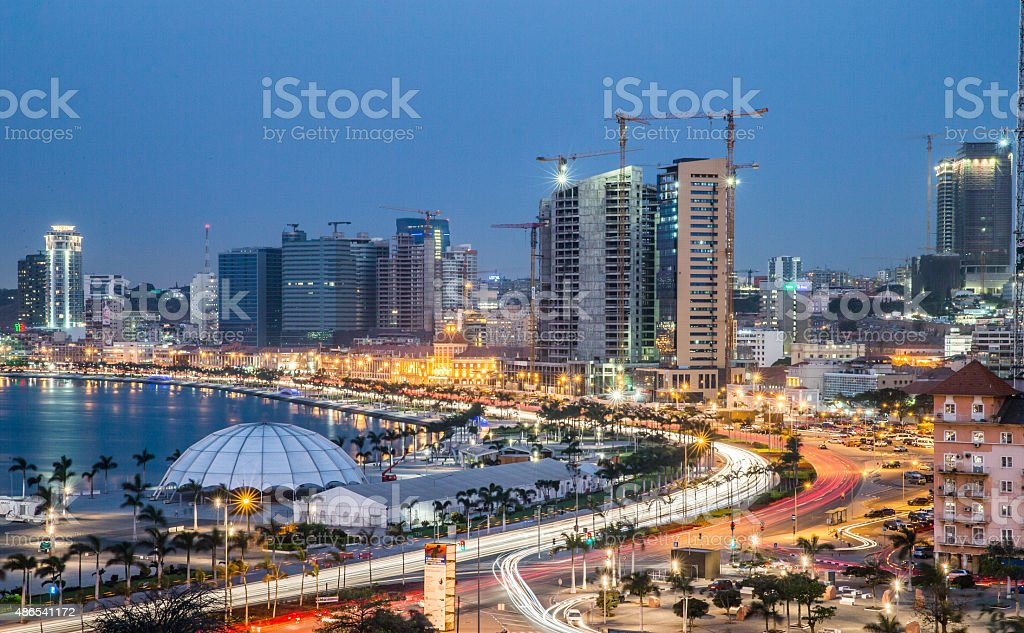 Luanda Bay Area luz LE - foto de acervo