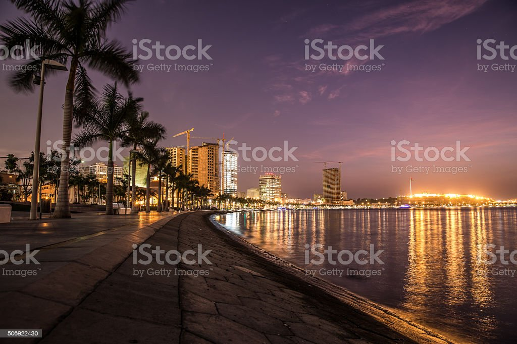 Luanda Bay stock photo