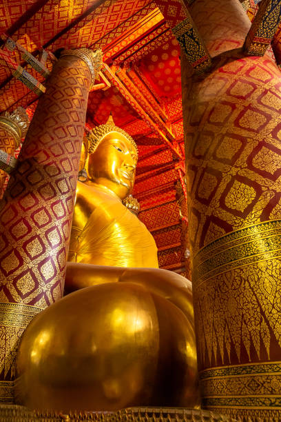 Luang Pho Tho am Wat Phanan Choeng, Ayutthaya, Thailand, Asien – Foto