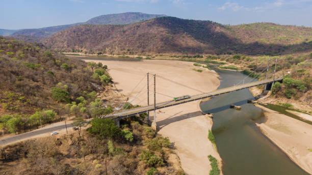 Luangwa Bridge stock photo