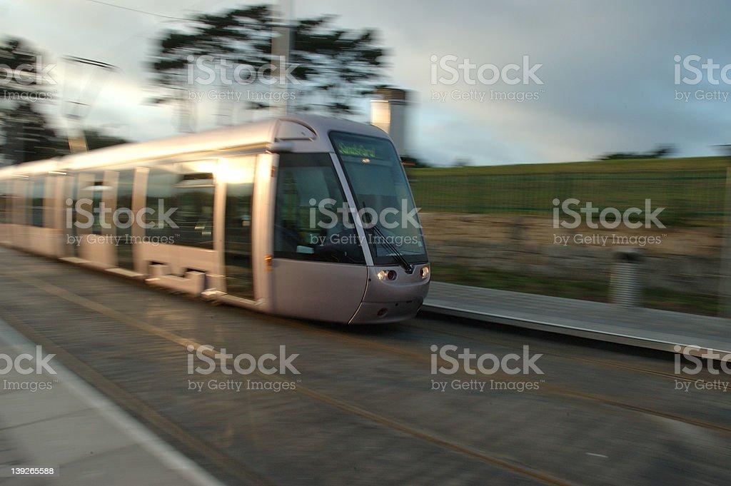 Luas Train royalty-free stock photo