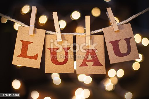 istock Luau Concept Clipped Cards and Lights 470950950