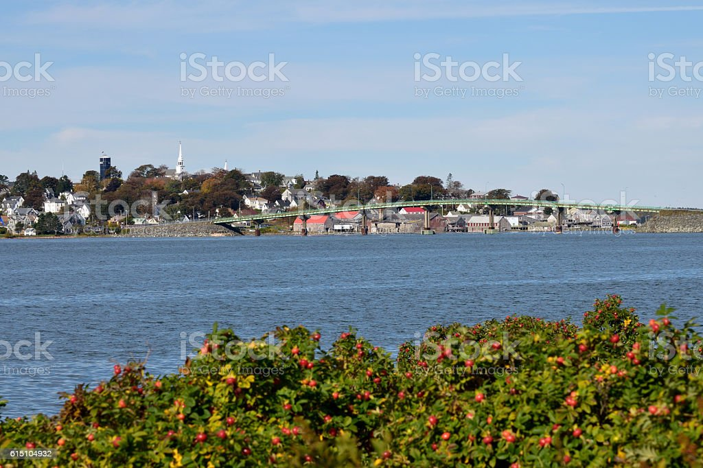 Lubec Maine USA stock photo