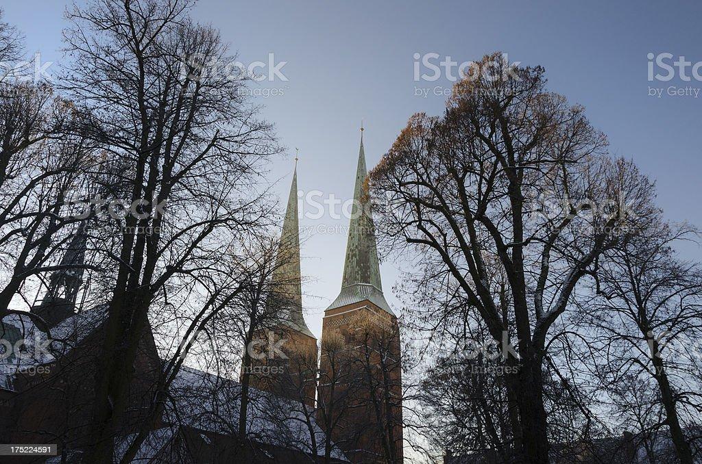 Lubeck Church Spire royalty-free stock photo