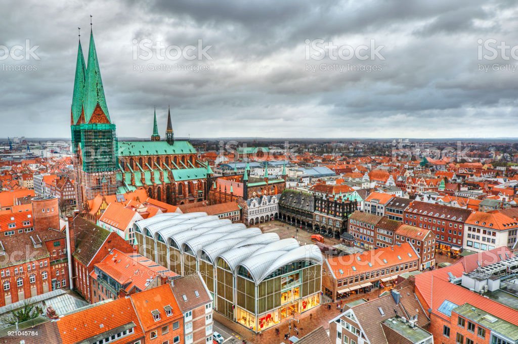 Lubeck HDR stock photo