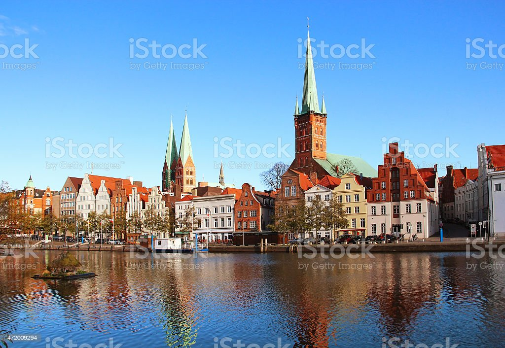 Lubeck old town, Germany stock photo