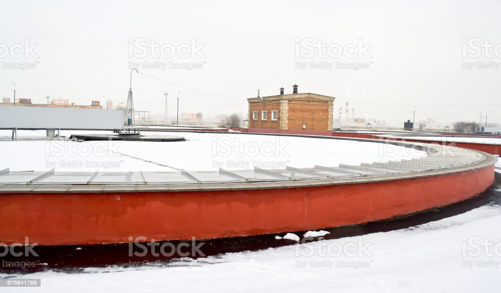 Luberetskaya aeration station stock photo