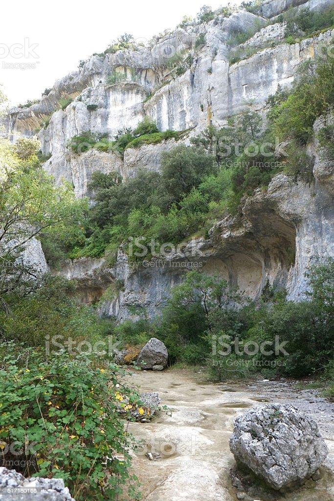 Luberon : Gorge of Veroncle close to Gordes stock photo