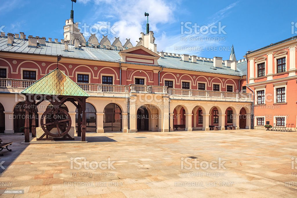 Lublin Castle stock photo